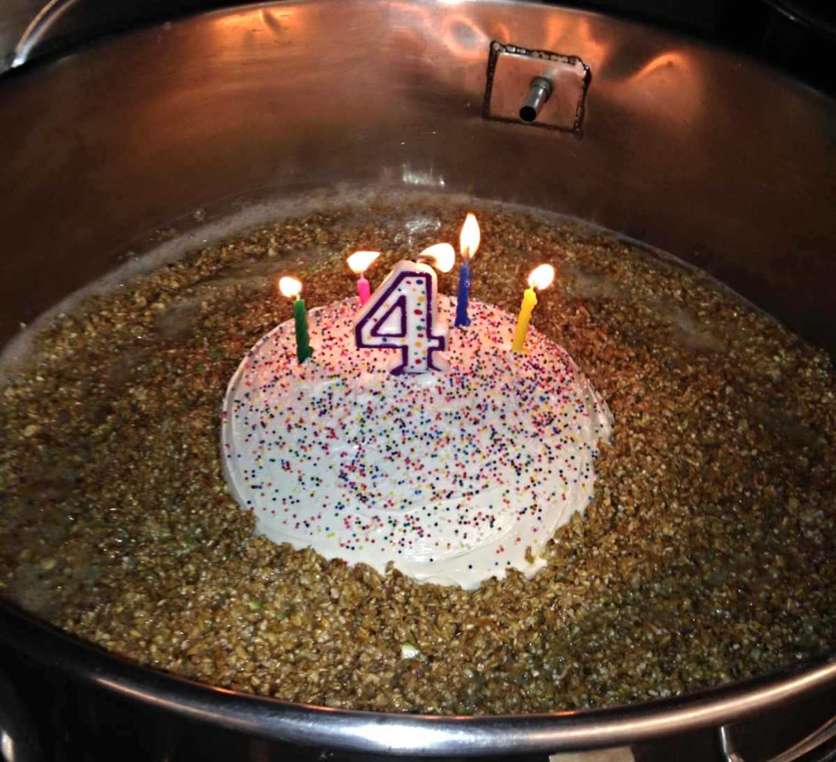 Birthday Cake Beer in Mash