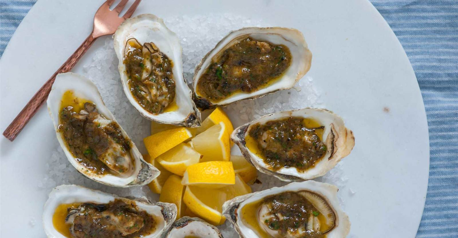 Grilled Oysters with Green Chile Butter Recipe | Craft Beer & Brewing