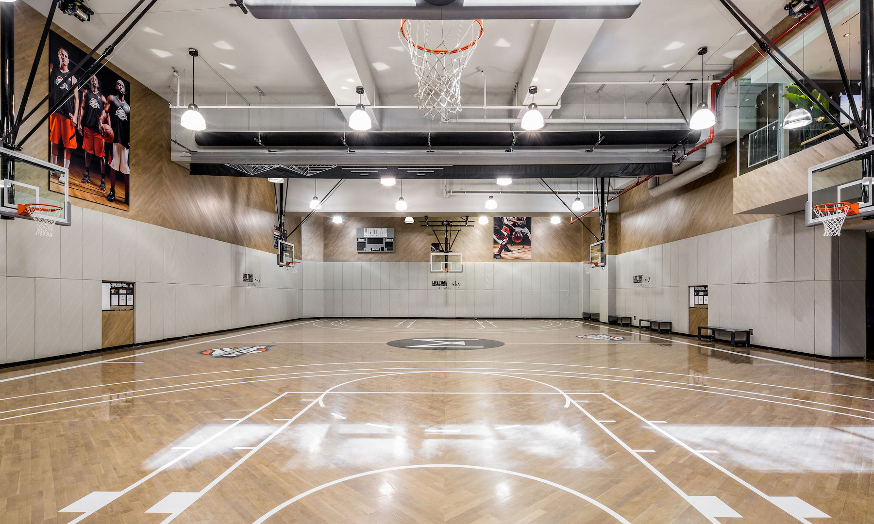 Basketball Court at Life Time Athletic Club