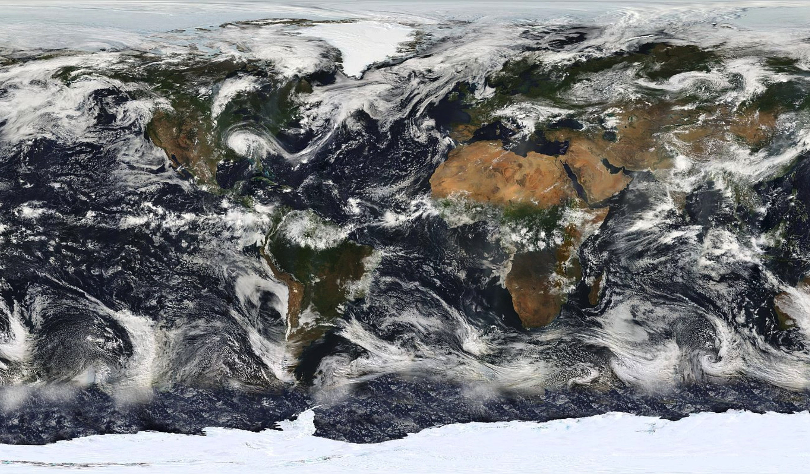 NASA MODIS images the entire Earth's surface almost every day. (Source: NASA)
