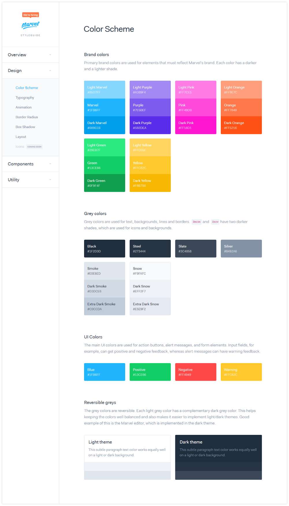 codeblick DigitalerStyleguide ColorScheme