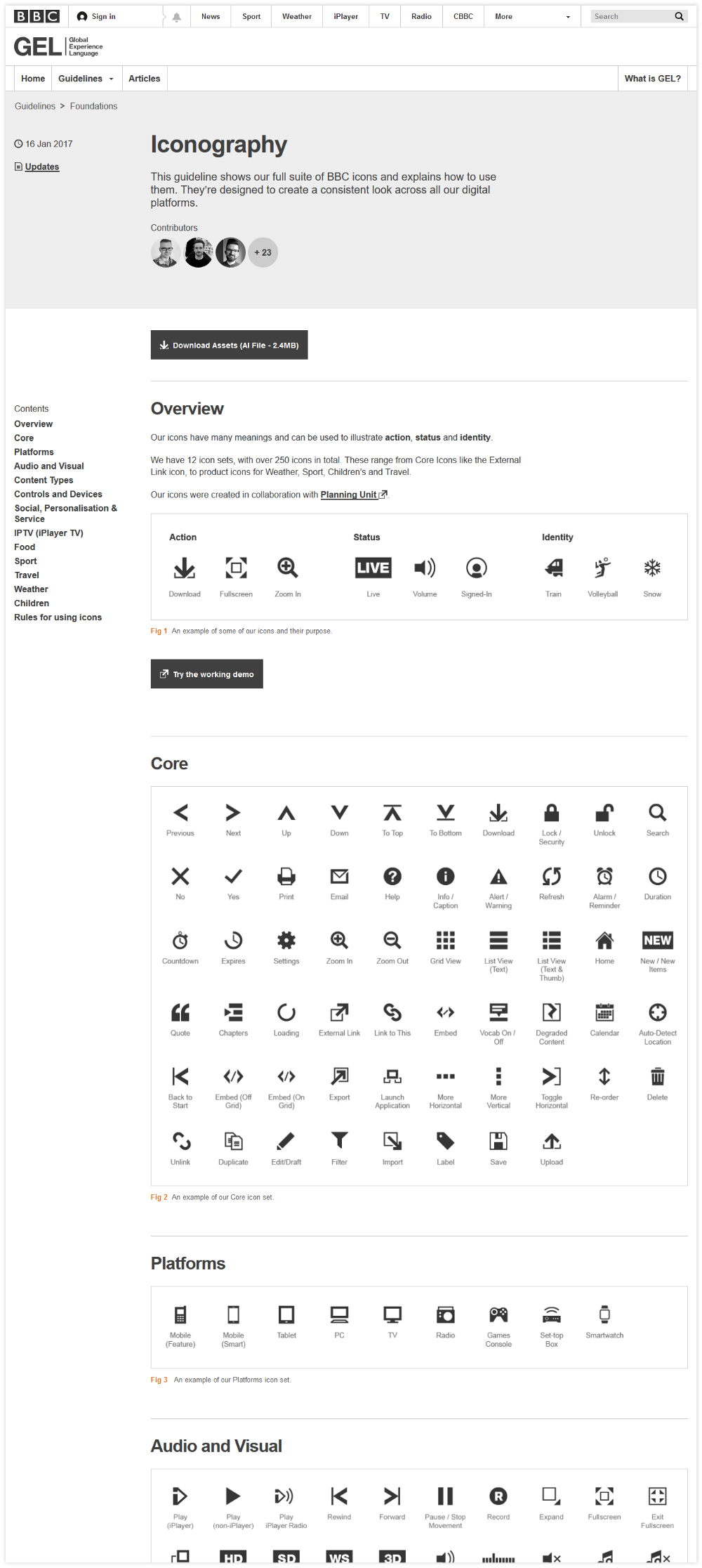 codeblick DigitalerStyleguide Iconography
