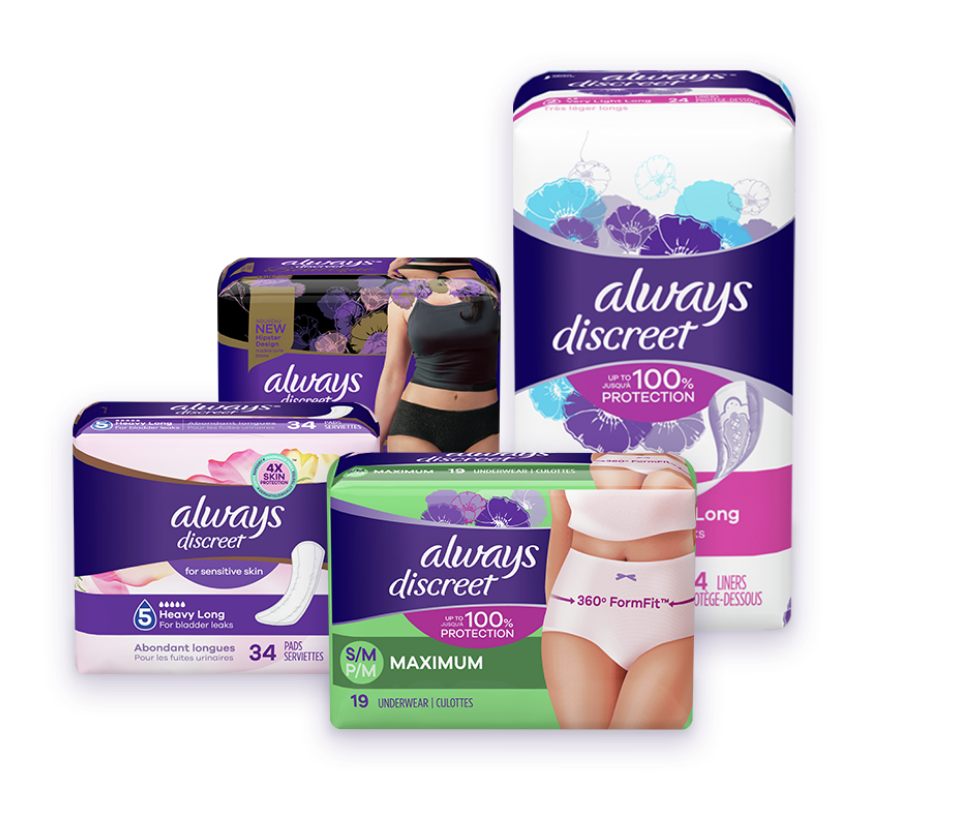 Always Discreet products