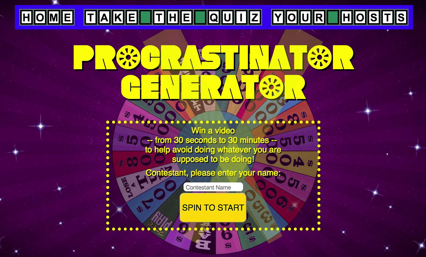 Procrastinator Generator