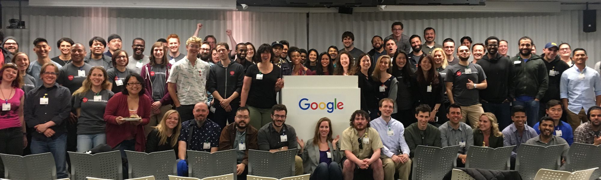 Code Fellows students at Google event