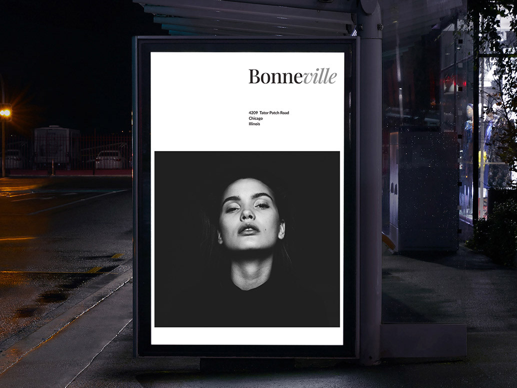 How the Bonneville brand could look on a poster