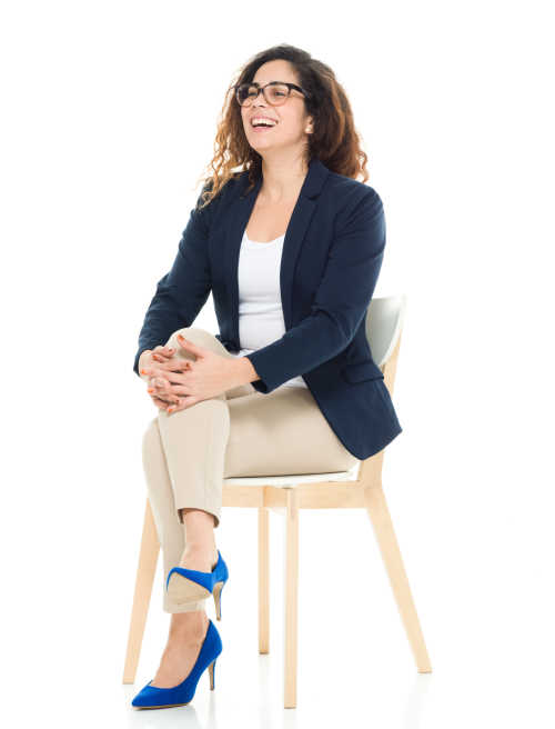 Businesswoman sitting