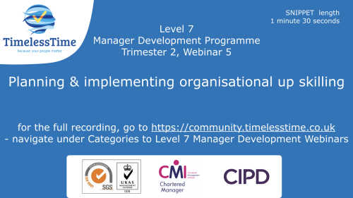Snippet Implementing organisational up skilling