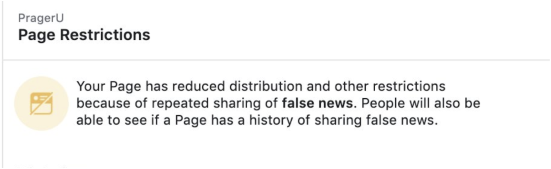 Facebook fake news flag