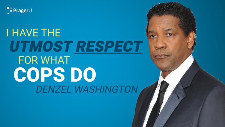 Denzel: I Have the Utmost Respect for What Cops Do