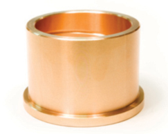 Thick-walled slide bearings and bronze materials