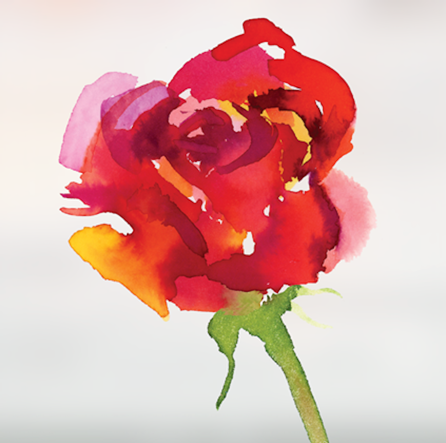 A watercolor rendition of the Giller Prize rose logo