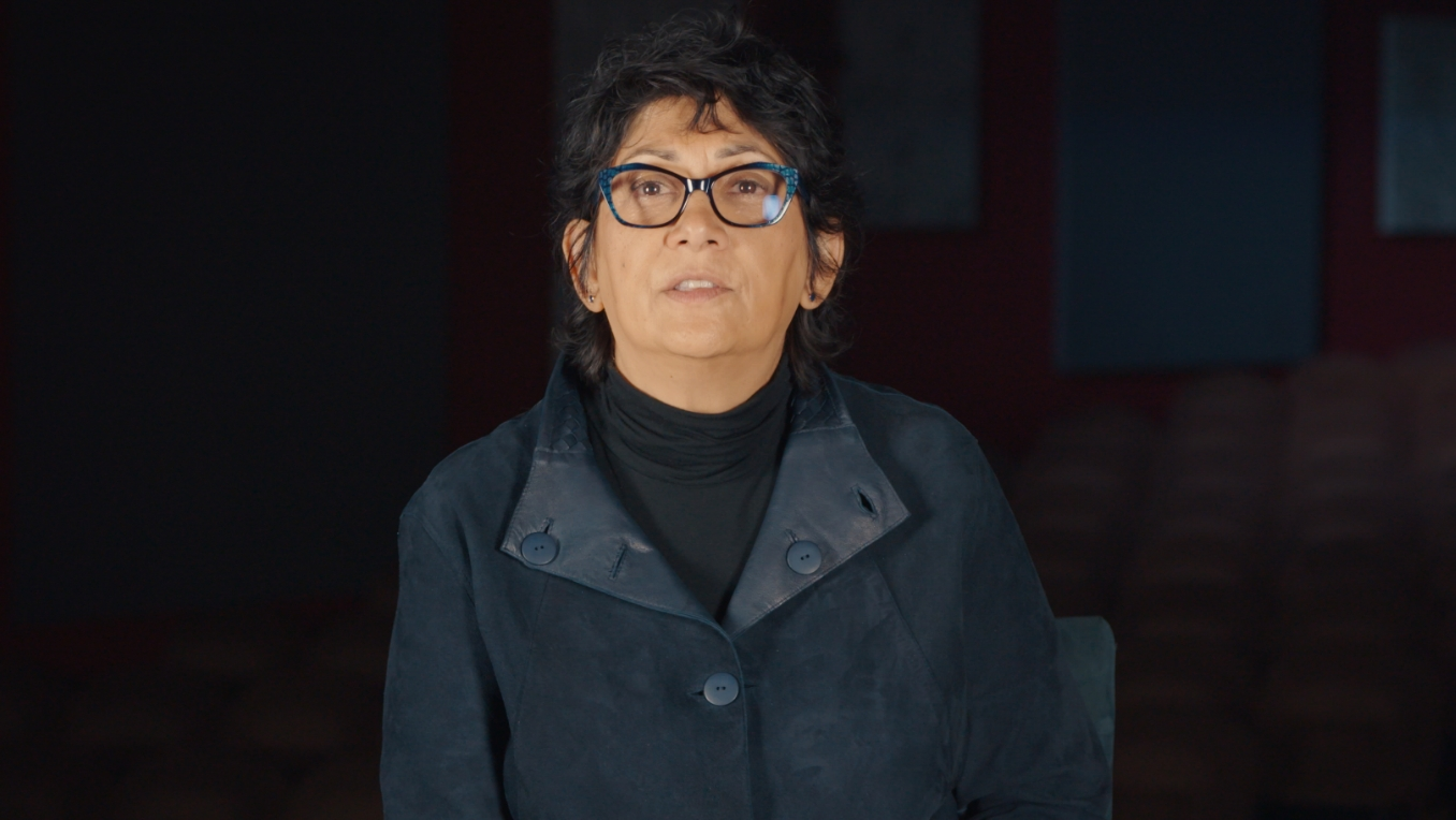 A photograph of author Shani Mootoo