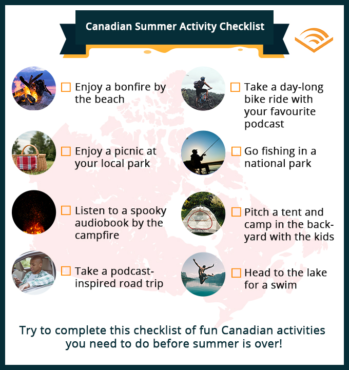 Canadian Summer Activity Checklist