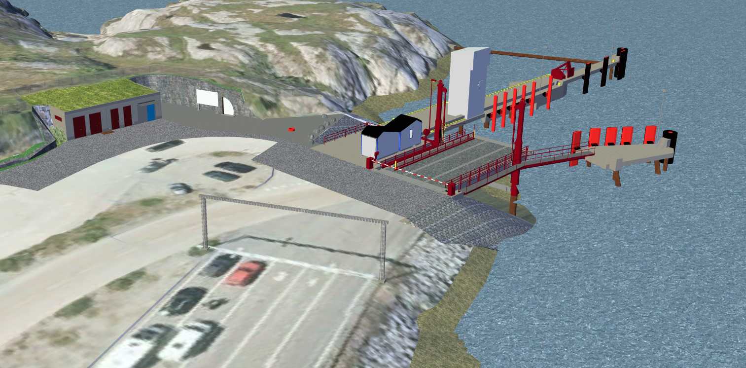 3D model of the new ferry quay at Valset