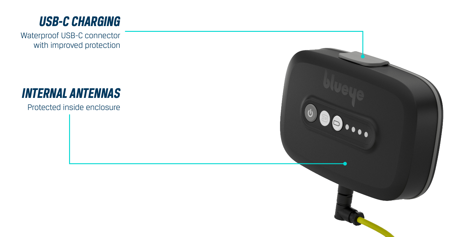 2nd generation Surface Unit with improved water protection, USB-C charging and internal antennas