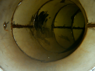 Blueye inspection inside a waterwork pipe