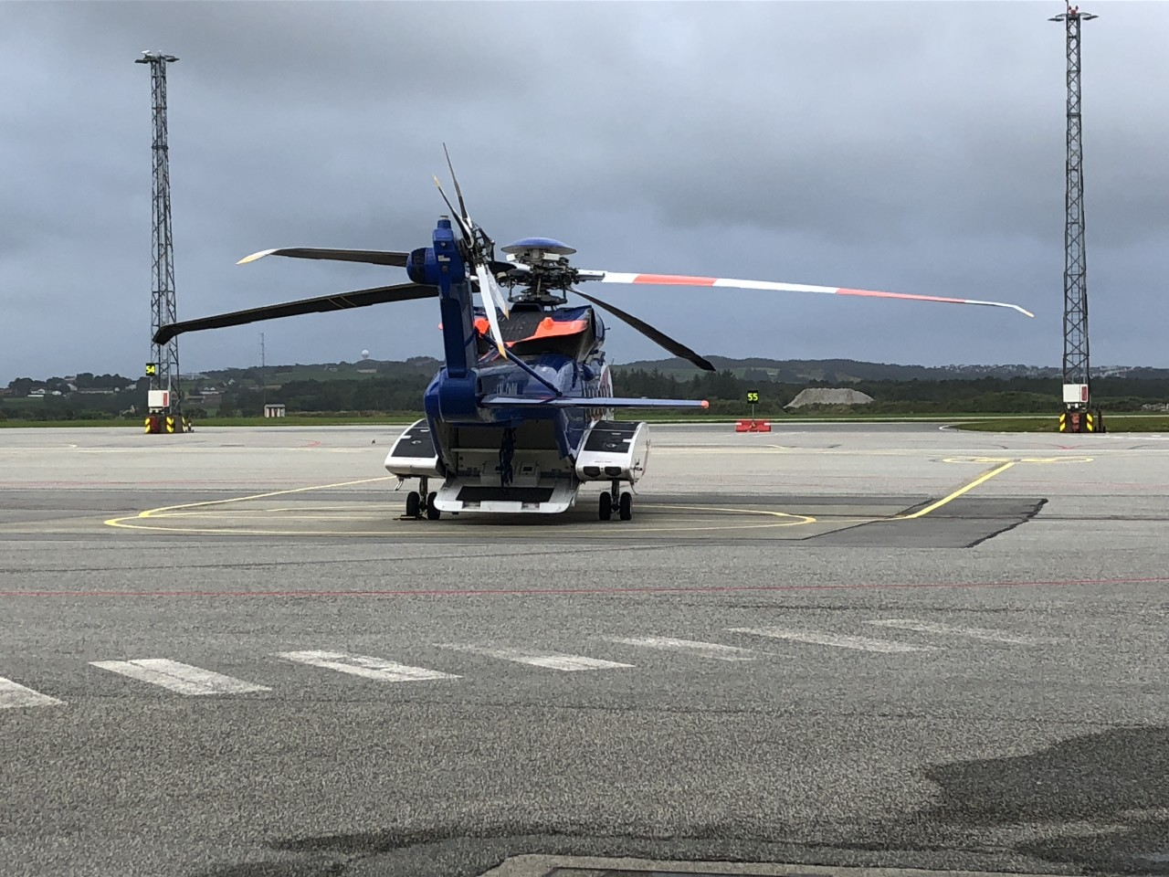 Helikopter klar for avgang
