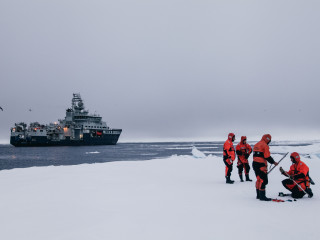 RV Kronprince Haakon and crew