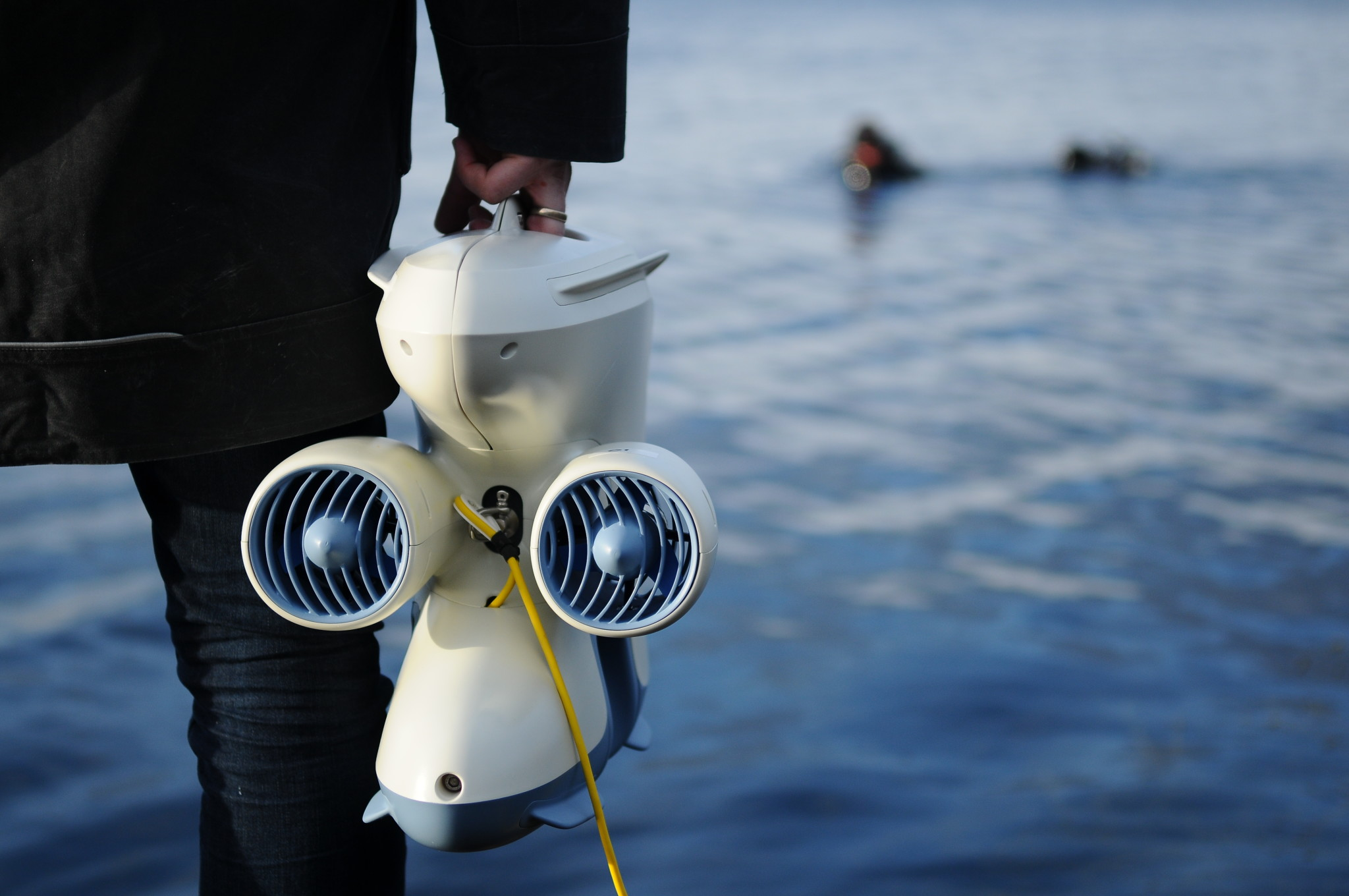 Ready to launch the Pioneer underwater drone