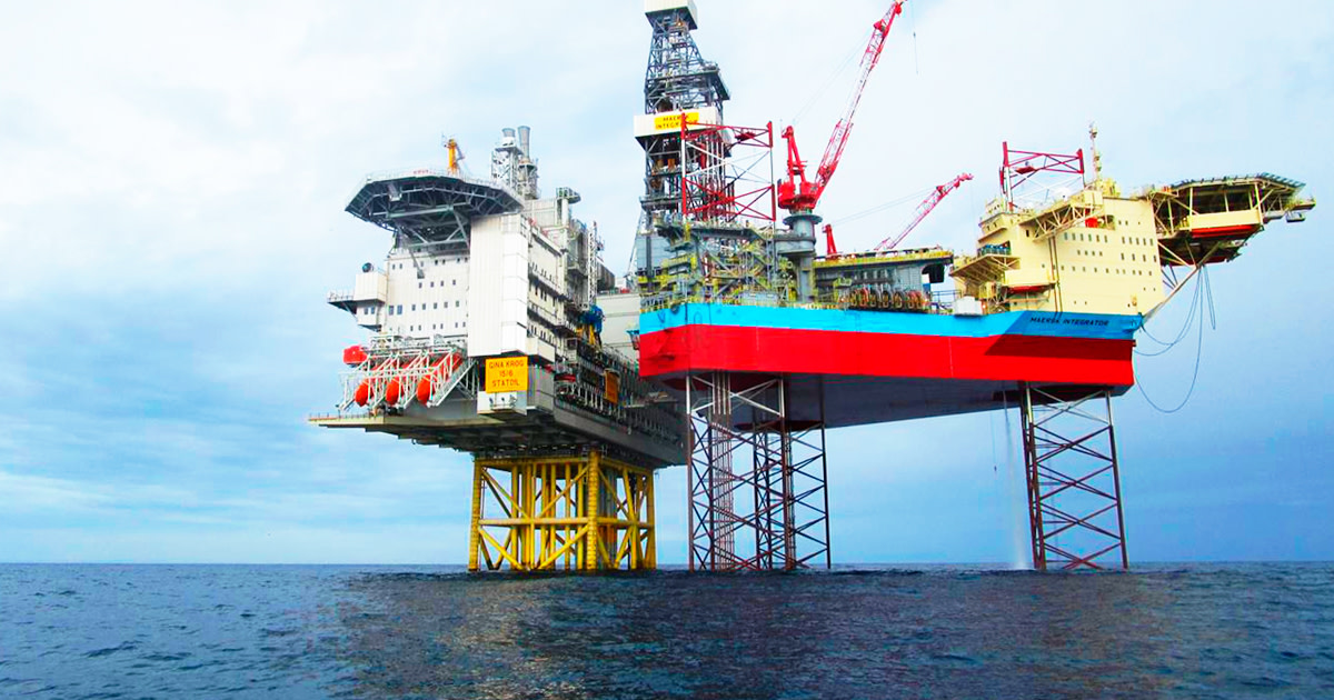 Maersk Integrator in the North sea