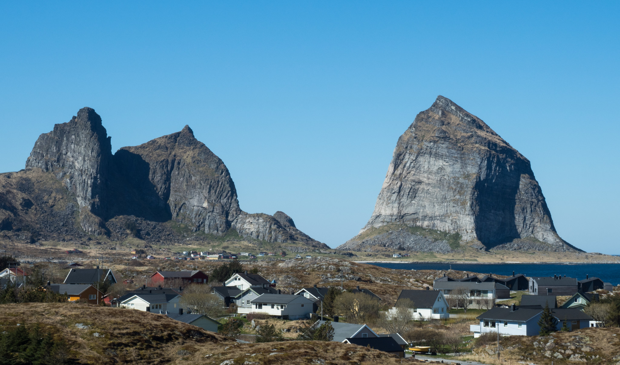 Characteristic mountain profile of Træna