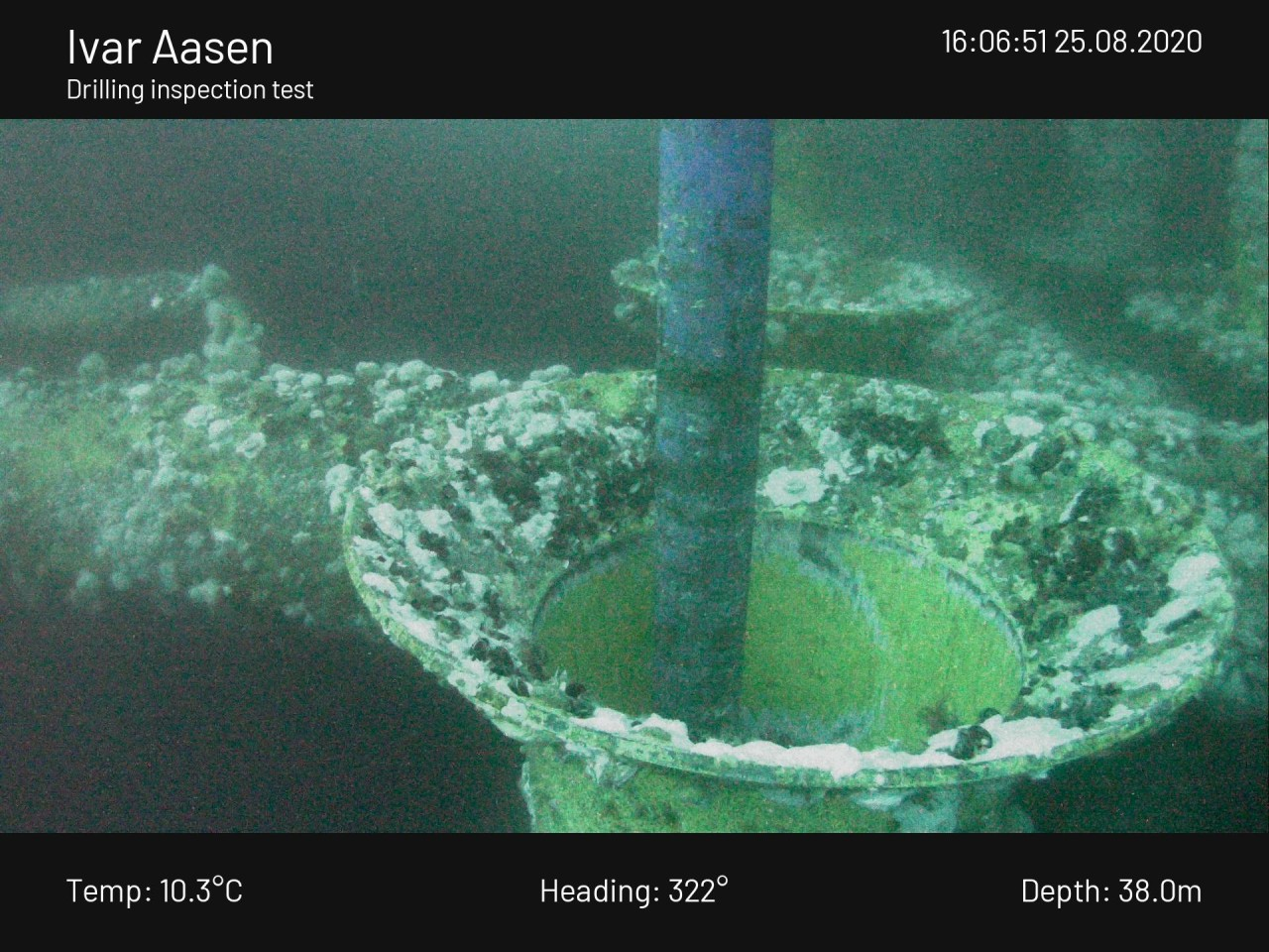 Second conductor guide at 38 m depth