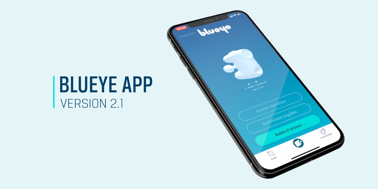 The Blueye app is updated
