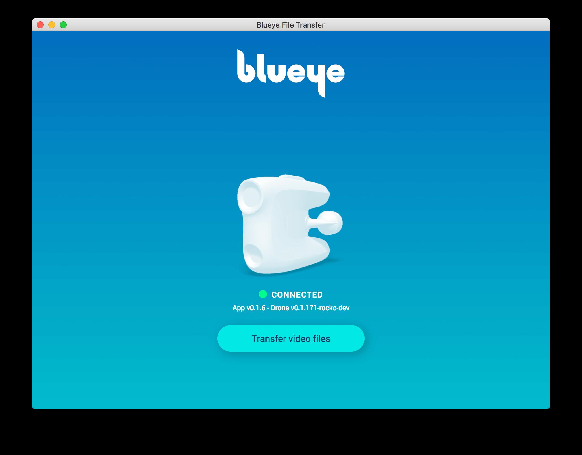 Blueye File Transfer Screenshot