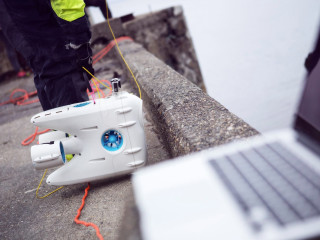 PioneerOne taking part in an under water clean up in Trondheim