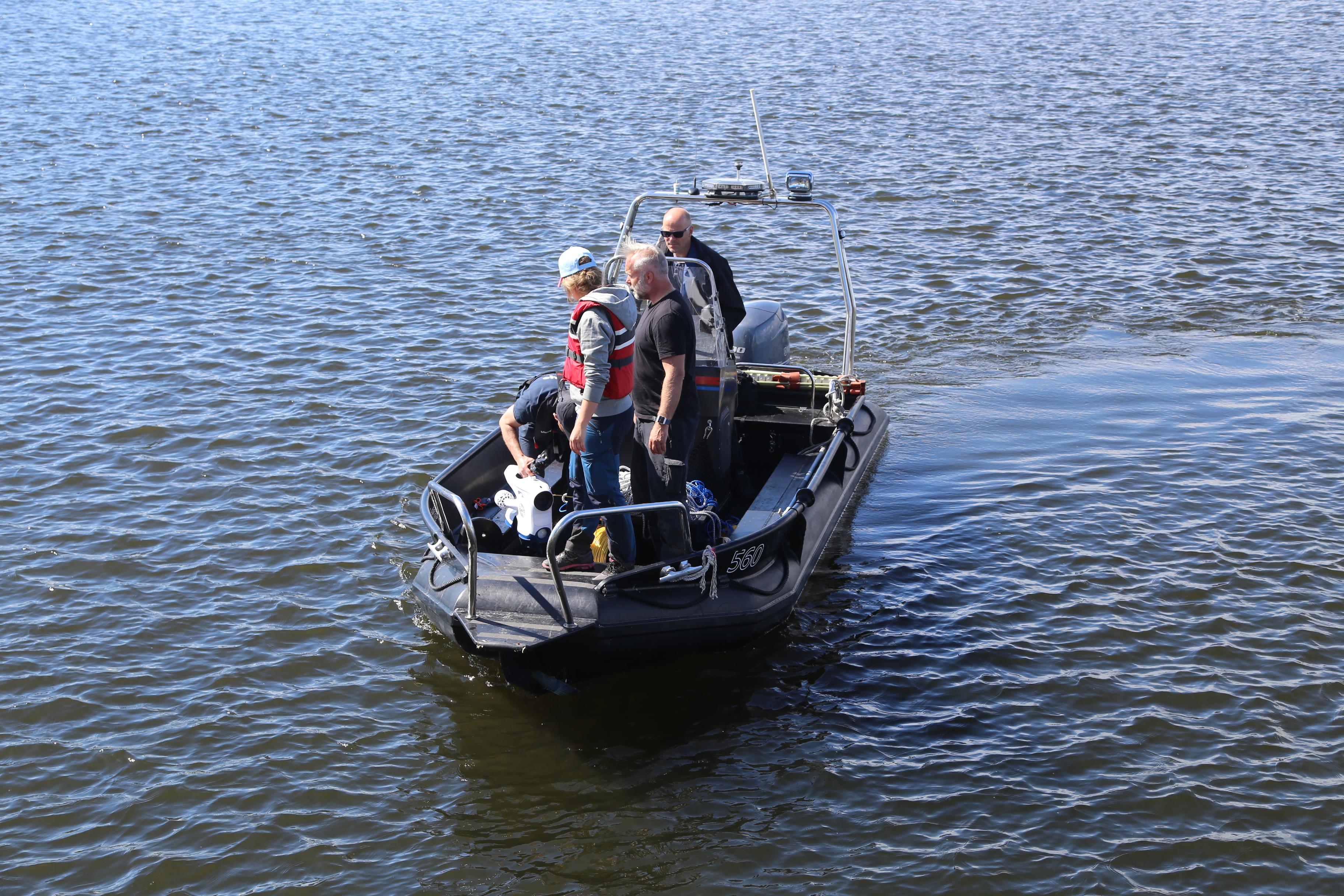 Norsk Politi bruker undervannsdronen Blueye Pioneer