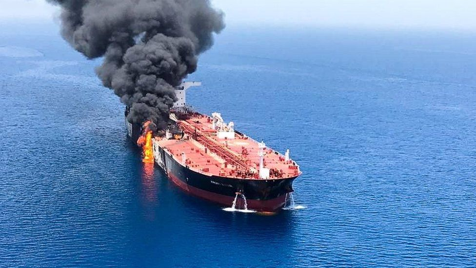 Burning Ship in Red Sea