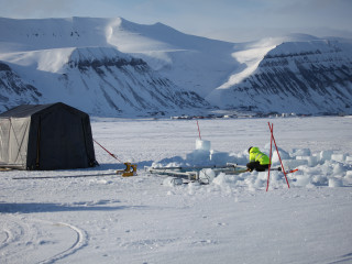 Basecamp for under ice operations