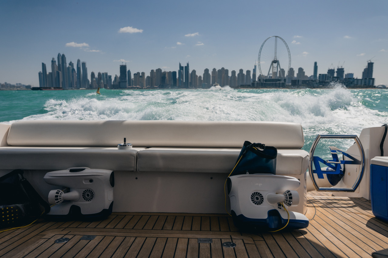 View from the yacht in Dubai
