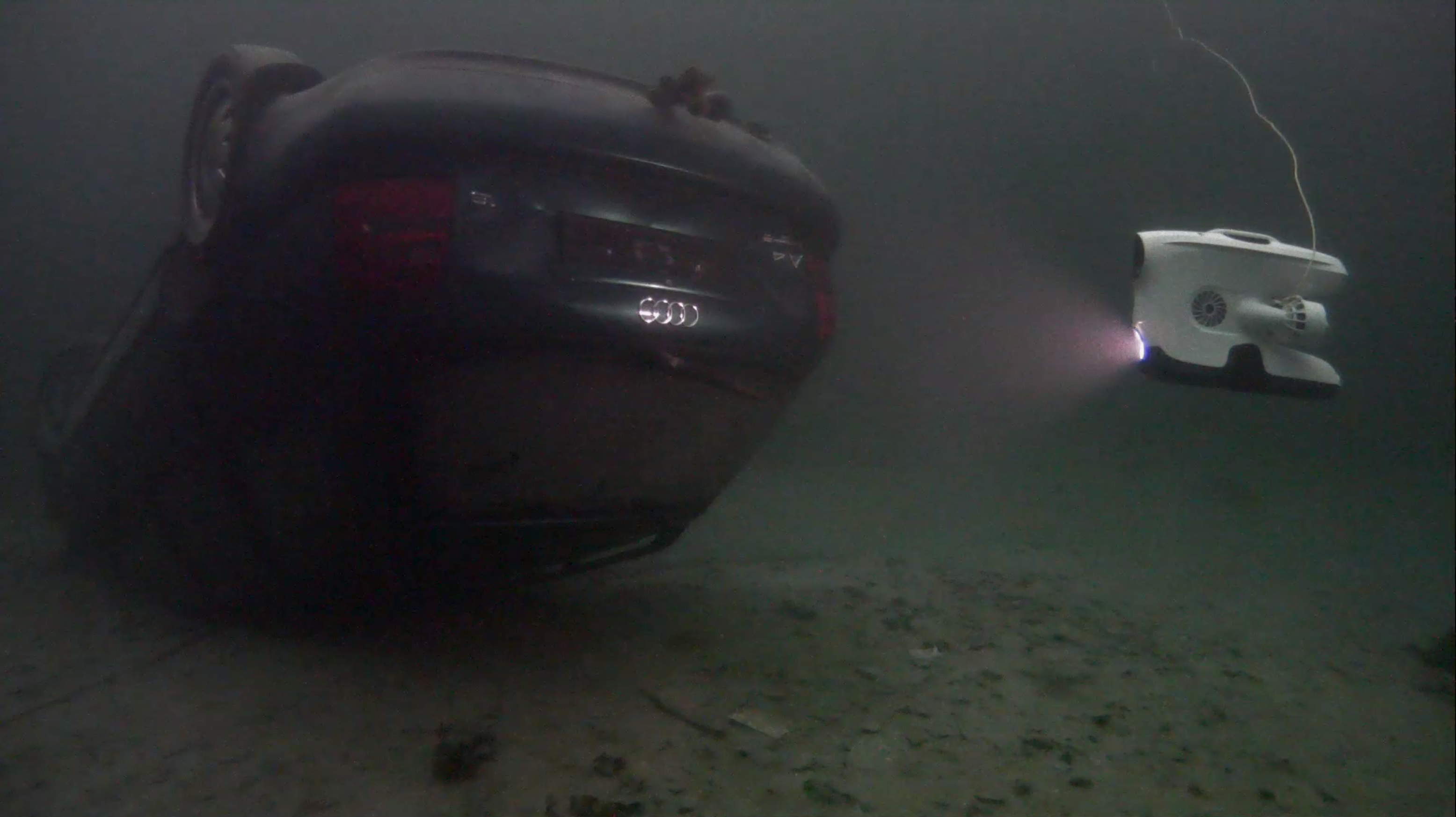 A sunken car found at Dora in Trondheim