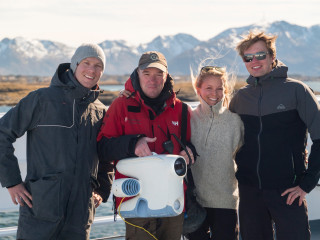 Blueye team with Hurtigruten expedition leader