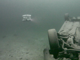 Sunken Car on its head