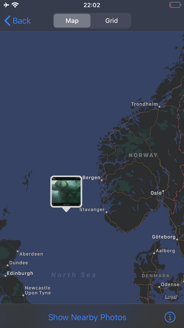 Location of the Ivar Aasen platform in the North Sea