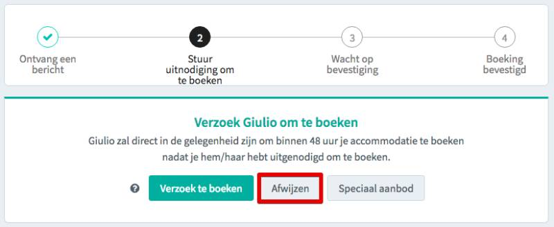 Booking request decline NL