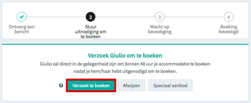 request to book NL