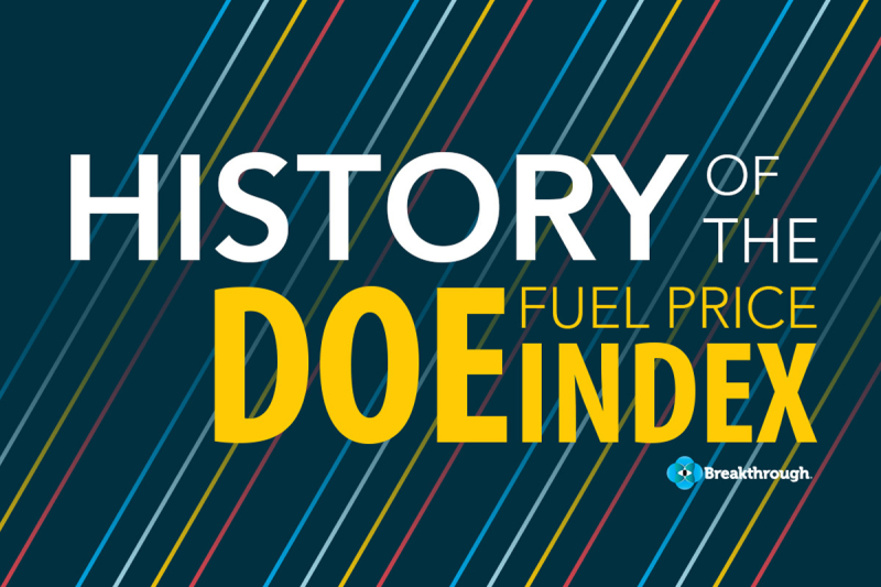 A History of DOE Fuel Surcharges blog post