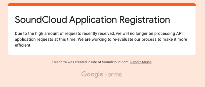 Soundcloud API Application
