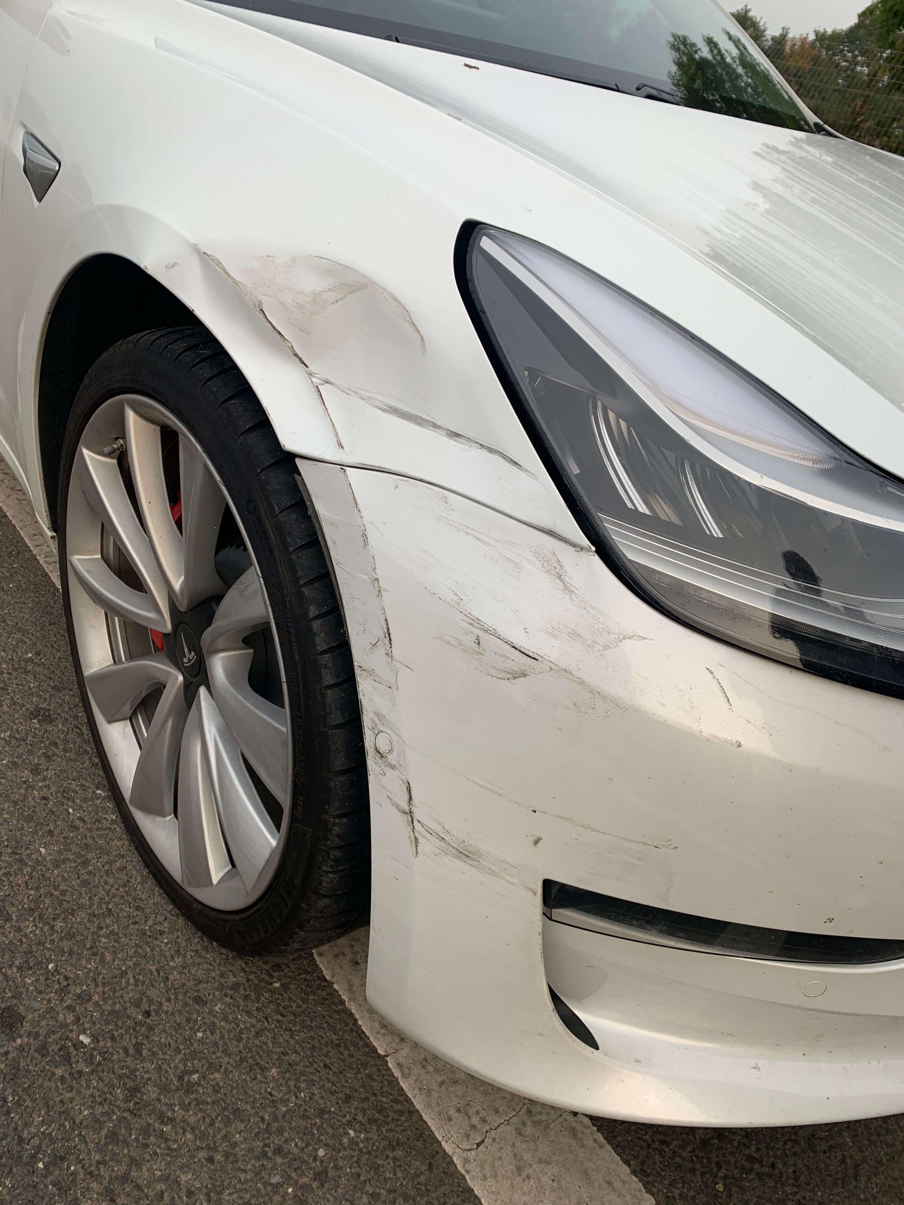 Ollie Tesla Bashed Zoom EV Accident Management