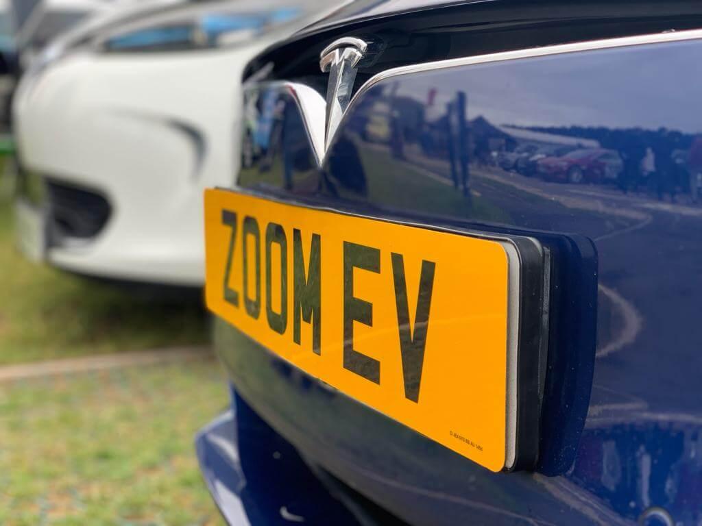 Zoom EV number plate