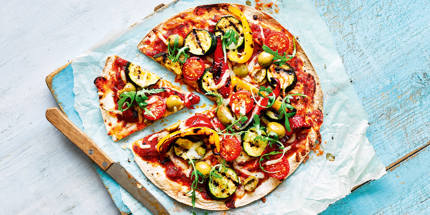 Chargrilled Vegetable Tortilla Pizza Recipes Co Op