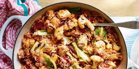Chicken and cauliflower jambalaya
