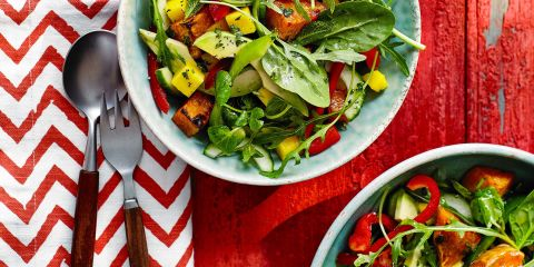 Sweet potato and mango salad