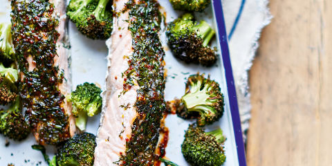 Herb crusted scottish salmon fillets