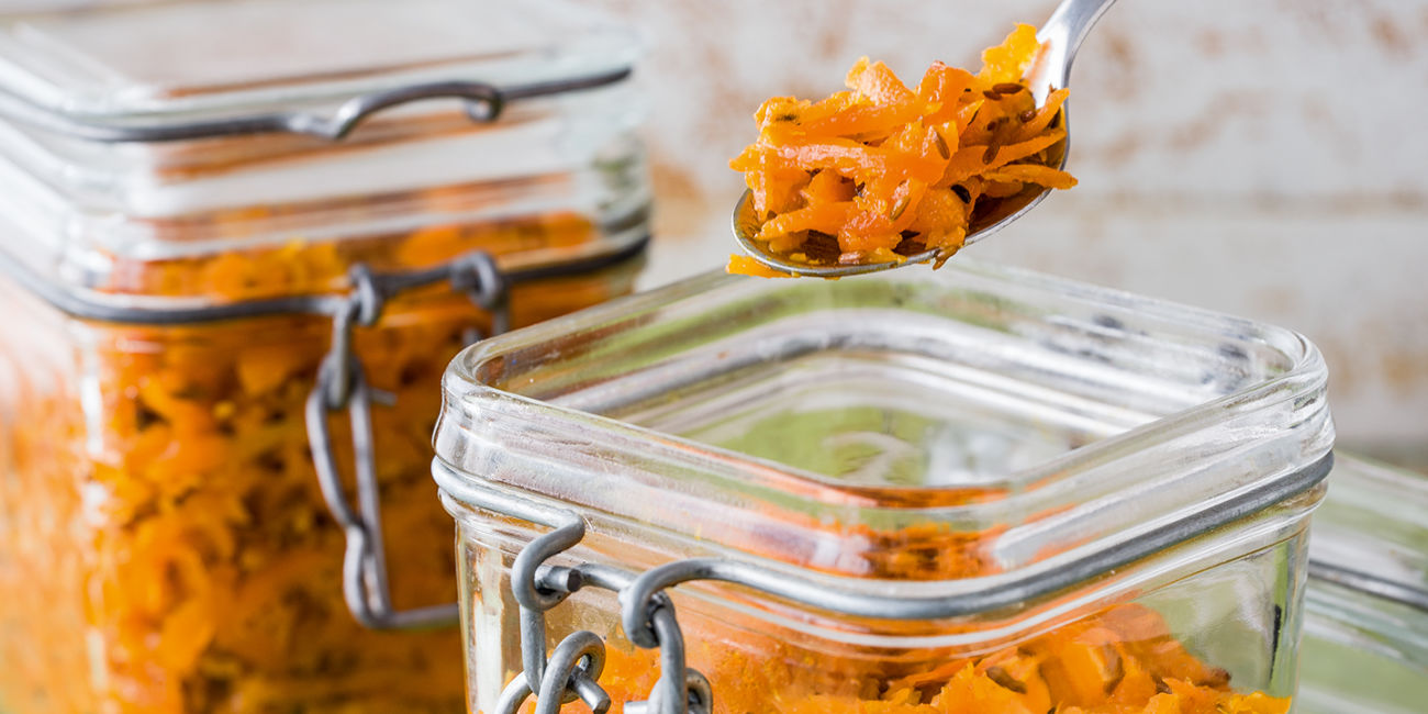 Indian spiced carrot pickle