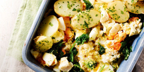 Cod and potato salad